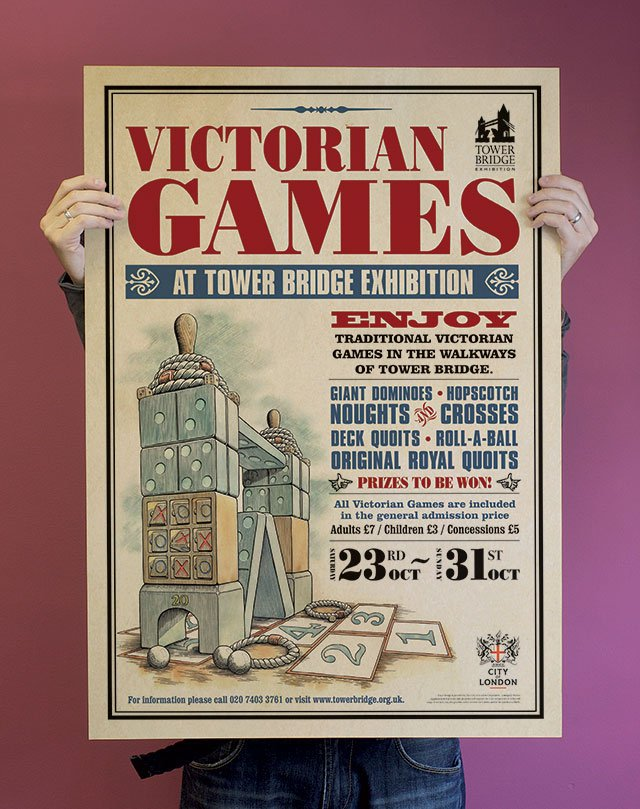 tower bridge victorian-games-poster