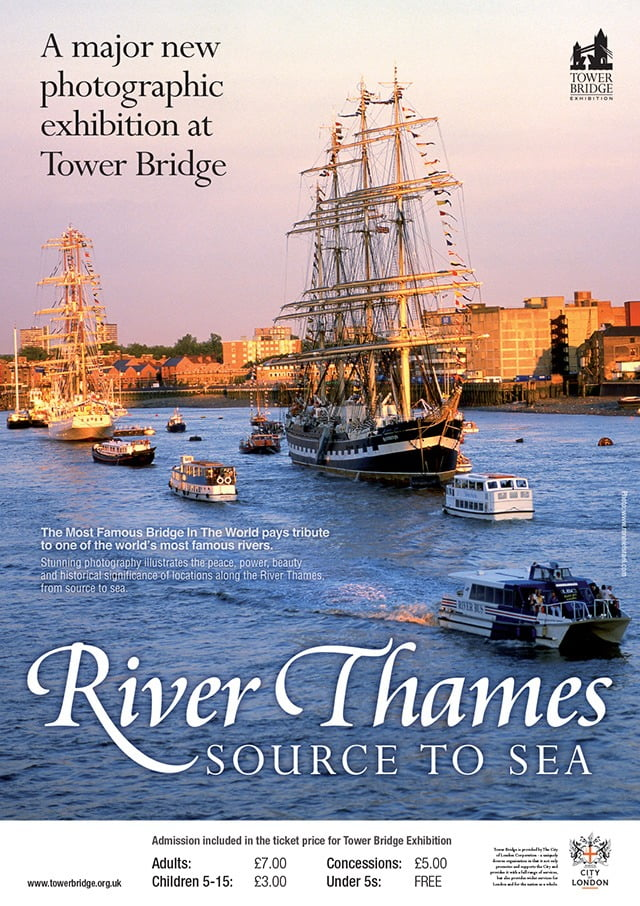 tower bridge river thames-exhib-poster