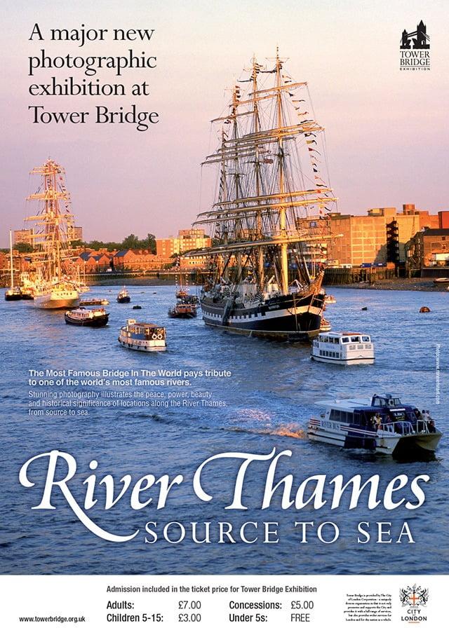 tower bridge river thames-exhib-poster