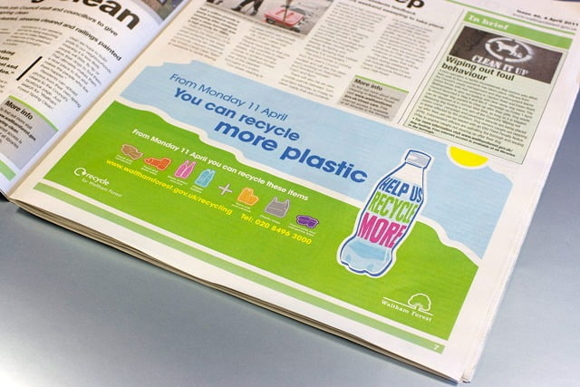 recycle-news advert