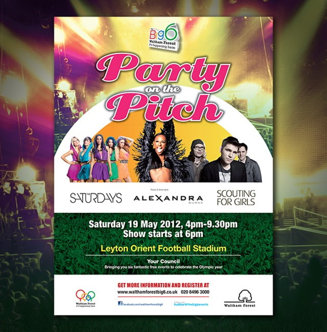 party on the pitch-poster