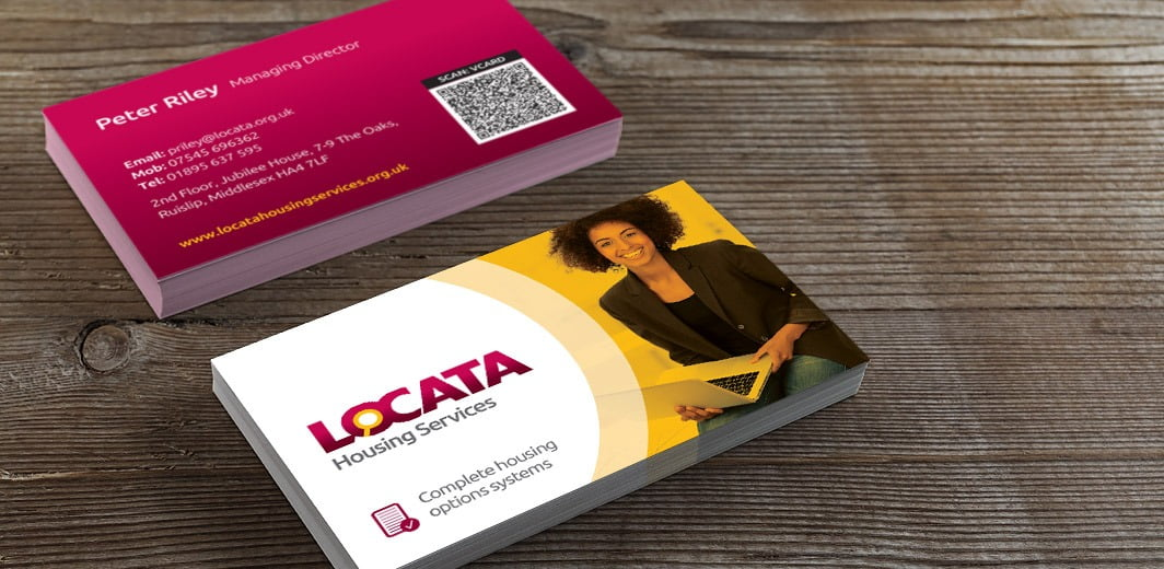 Locata Housing Services Business Cards