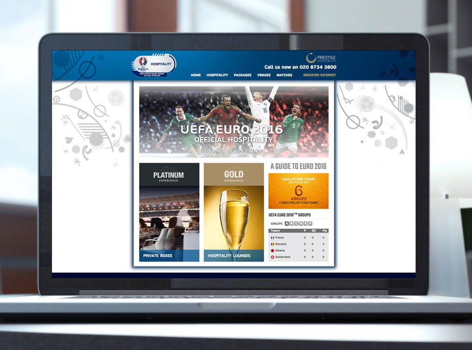 Euro2016 Hospitality Website