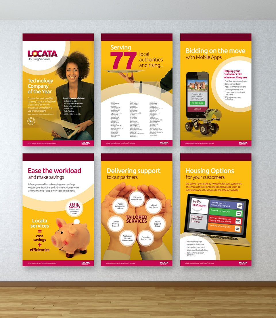 Locata Housing Services Exhibition Panels