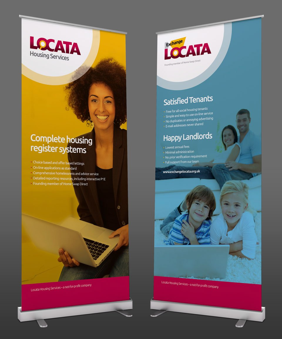 Locata Housing Services Roll-up Banners