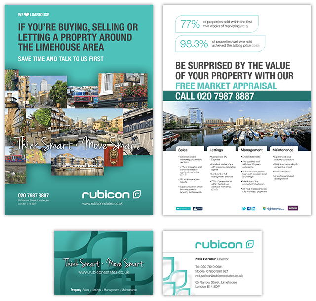 Rubicon Flyer and Card
