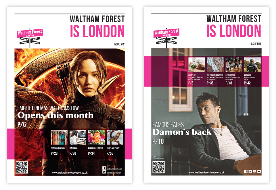 Waltham Forest is London Magazine Covers