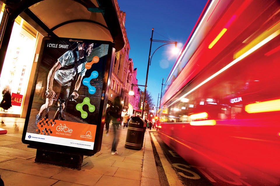 Mini Holland Bus Shelter Advert