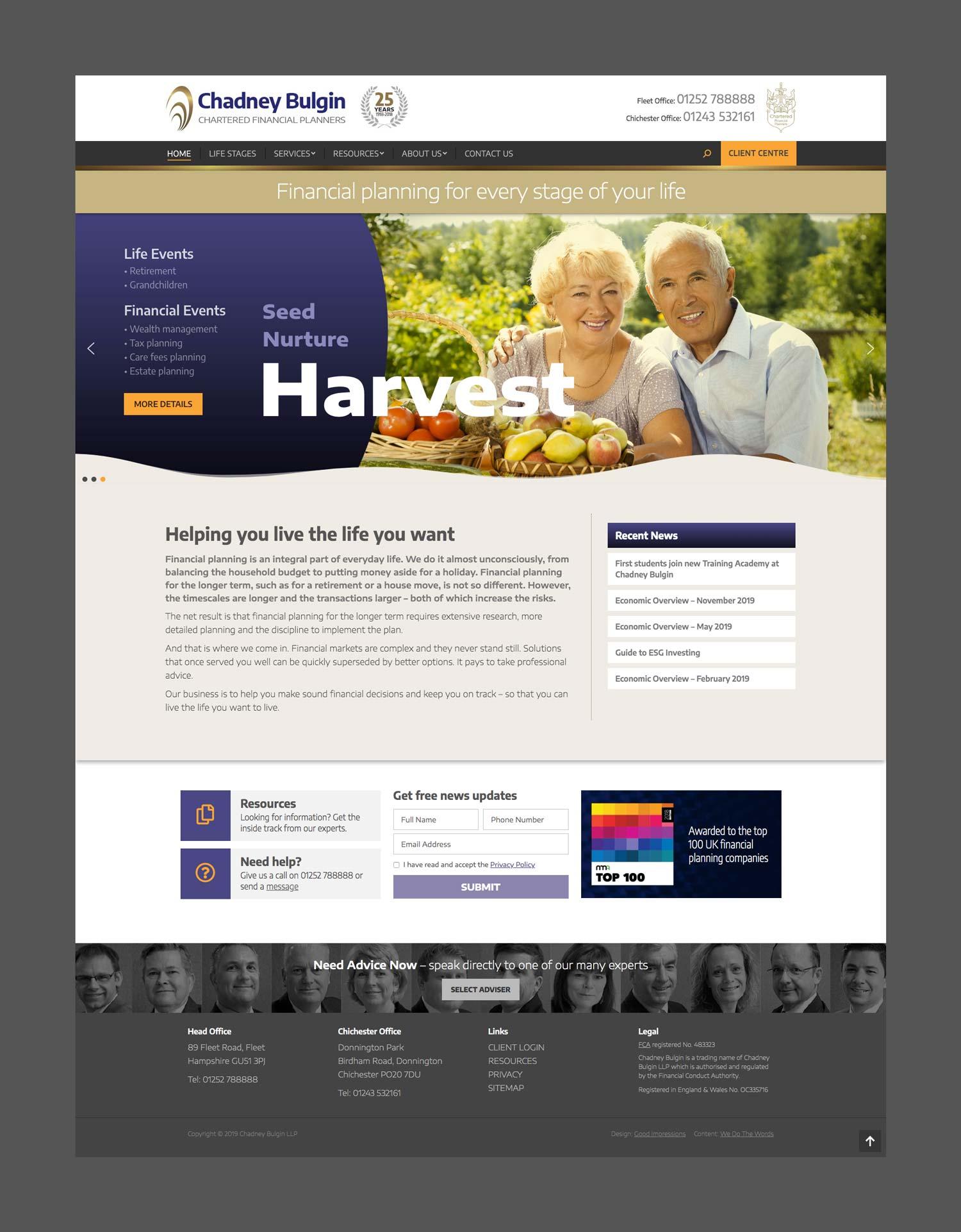 Chadney Bulgin website home page