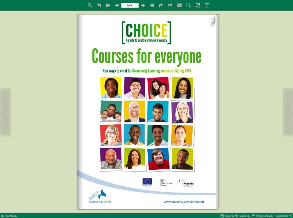 Coventry Course Guide Page Turner