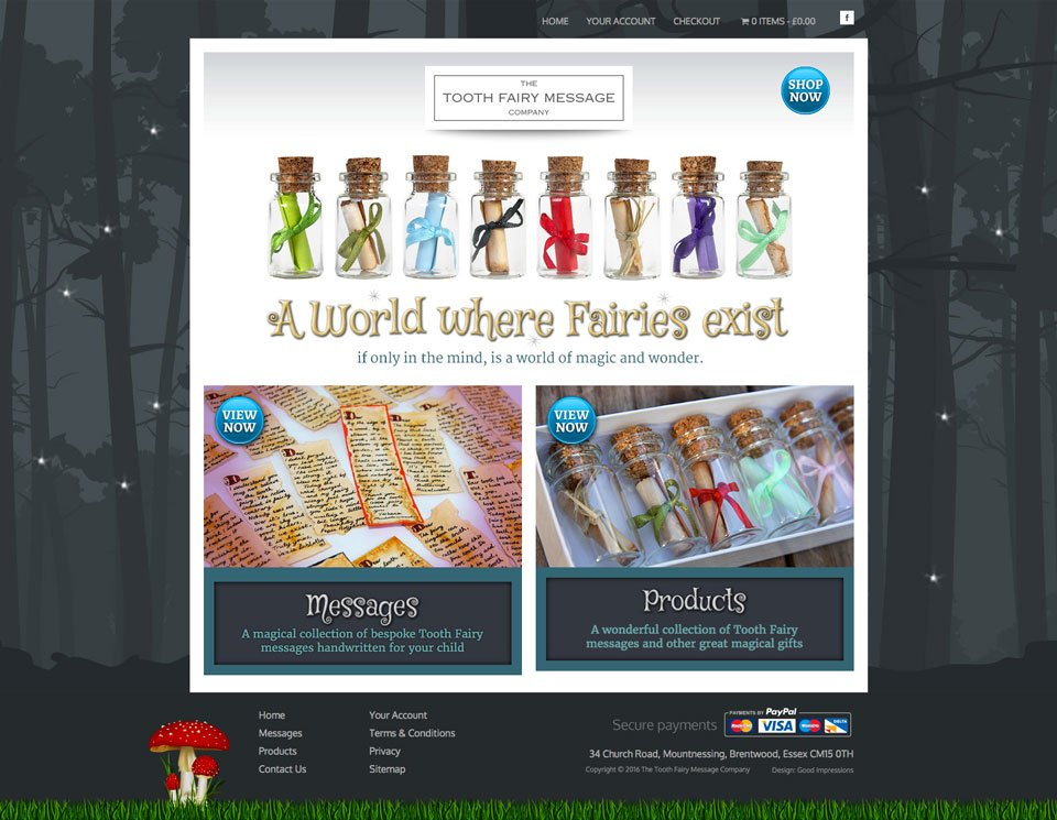 The Tooth Fairy Message Company Home Page